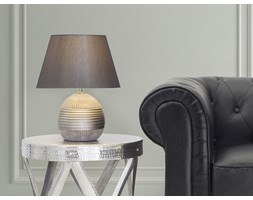 Nowoczesna lampka nocna - lampa stojąca - srebrna - SADO