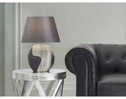 Nowoczesna lampka nocna - lampa stojąca - czarno-srebrna - ESLA