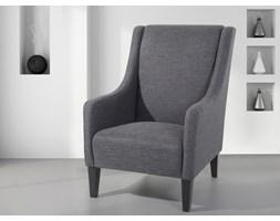 Fotel ciemnoszary - do salonu - wypoczynkowy - klubowy - BALTIMORE