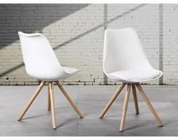 Krzesło do jadalni białe - fotel - DAKOTA