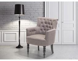 Fotel wypoczynkowy brązowo-szary do salonu tapicerowany - ALESUND