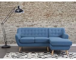 Sofa niebieska - kanapa - tapicerowana - naroznik - MOTALA