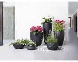 Doniczka czarna - donica na balkon - ogrodowa - 55x55x19 cm - MURITZ