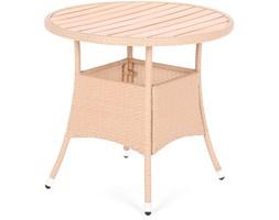 Stół z technorattanu okrągły Mori Beige Elegant Ø 80