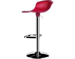 Krzesło barowe - hoker Aria czerwone przeźroczyste