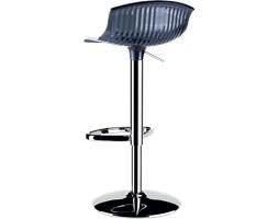 Krzesło barowe - hoker Aria czarne przeźroczyste