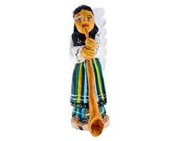 Rzeźba z drewna - anioł grający na trąbie - 20 cm
