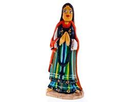 Rzeźba z drewna - Matka Boska z różańcem w stroju ludowym - 25 cm