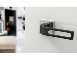 Czarne, nowoczesne klamki FORTUNA - do drzwi wewnętrznych