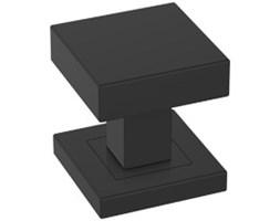 Czarne, kwadratowe gałki do drzwi wewnętrznych