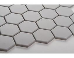 Hexagon duży, jasno szary, matowy