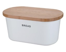 Biały chlebak BREAD z deską do krojenia, 2w1, ZELLER