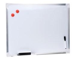 Biała, magnetyczna tablica na notatki + akcesoria