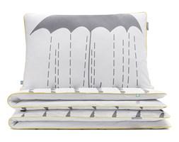 MUMLA Pościel dwustronna - wzór SZARE PARASOLE (kołdra + poduszka) – WYJĄTKOWA KOLEKCJA – 100% BAWEŁNY