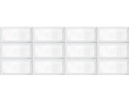 Ribesalbes Bisel Blanco Brillo 10x20 Płytka ścienna szkliwona