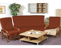 Bellatex Narzuty na kanapę i fotele Kira terra, 150 x 200 cm, 2 szt. 65 x 150 cm