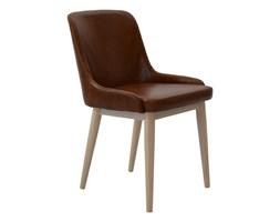 RGE :: Zestaw 2 brązowych krzeseł Edgar