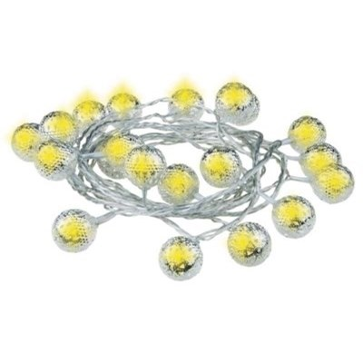 Lampki choinkowe EMOS 20 LED CHRISTMAS SILVERBALL 3M IP20 WW ZY1407