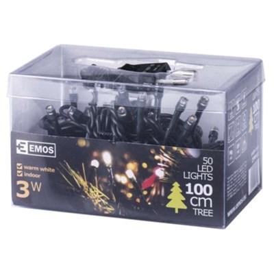 Lampki choinkowe EMOS 50 LED CHRISTMAS 2,5M IP20 WW ZYP0102