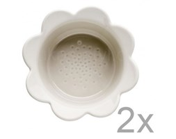 Zestaw 2 beżowych misek Sagaform Piccadilly Kwiatki, 13x6,5 cm