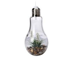 Dekoracja z kwiatami - lampa LED, wisząca żarówka