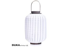 Lampion drewno tkanina 45 cm biały