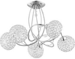 Lampa wisząca zwis żyrandol Alfa Brylant 5x40W E14 chrom 21335