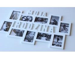 48h wysyłka Ramka multirama na 10 zdjęć z napisem Moja Rodzina