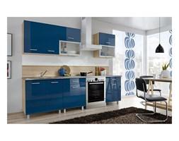 Zestaw mebli kuchennych FIONA kolor niebieski połysk MEBLE OKMED