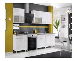 Zestaw mebli kuchennych FIONA kolor biały połysk MEBLE OKMED