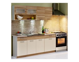 Zestaw mebli kuchennych MORENO COCOBOLO kolor wanilia, cocobolo STOLKAR