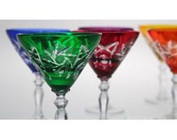 Kieliszki kryształowe /małe/ do martini 40 ml - KOLOR MIX