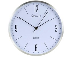 Okrągły zegar ścienny SEGNALE, aluminium, Ø 30 cm
