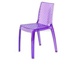 Krzesło designerskie CARMEN - fioletowe - Fioletowy