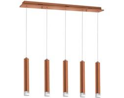 COPPER LED V lampa wisząca typu belka 5 x 5W LED lampa tuba ledowa miedziana design