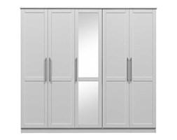 Szafa biała do sypialni 5 drzwiowa Wenecja