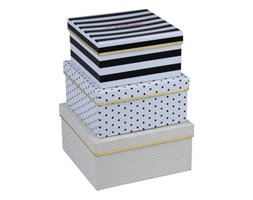 Zestaw 3 pudełek Tri-Coastal Design Chic Happens Square