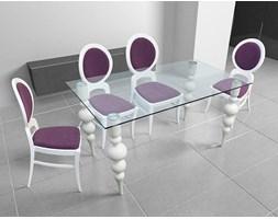 Stół ze szklanym blatem Deluxe-48h