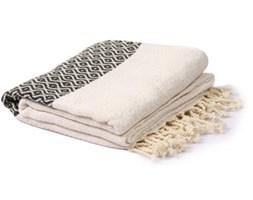 Biało-szary ręcznik hammam Spa Time Dot, 95x180cm