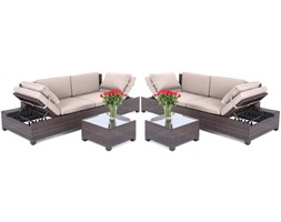 HOME & GARDEN Zestaw mebli HOME&GARDEN Milano 2w1 Brown/Taupe