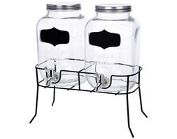 Dystrybutor do napojów, szklany - 2 x 4 l