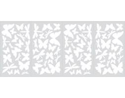 Naklejki dekoracyjne – Motyle - 4 arkusze, 79 szt. ROOMMATES