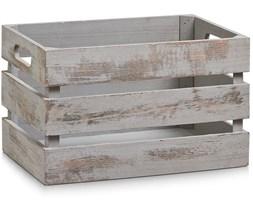 Skrzynia do przechowywania VINTAGE, drewniana, kolor szary, 31x21x19 cm, ZELLER