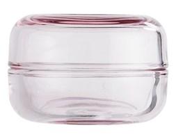 Bloomingville Pojemnik z Pokrywką Szklany Różowy - b23606592