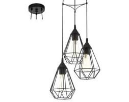 Lampa wisząca zwis Eglo Tarbes 3x60W E27 czarna 94191 - wysyłka w 24h