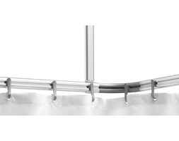 406082 Sealskin Karnisz do zasłony prysznicowej Easy Roll - zestaw, aluminium