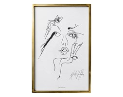 GRAFIKA Z RAMIE GOLD WOMEN BLOOMINGVILLE 60x40 cm