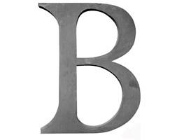 LITERA DEKORACYJNA OCYNKOWANA B BLOOMINGVILLE H. 30 cm