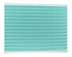 Plisy, Rolety Plisowane ECO Harmony - Lazur / Biały