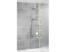 Teleskopowa, narożna półka łazienkowa pod prysznic, biała - aż 4 poziomy, WENKO